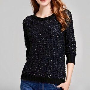 JOIE Kyleen blue sequin sweater
